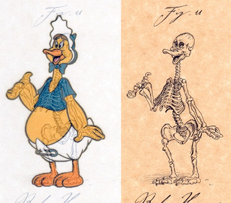 Baby Huey Skeleton