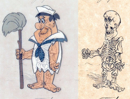 Fred Flintstone Skeleton