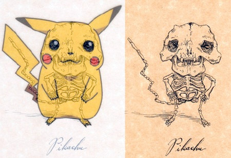 Pikachu Skeleton