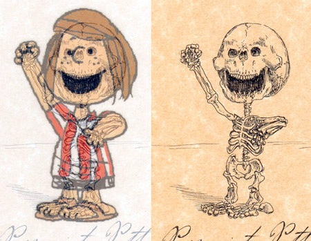 Peppermint Patty Skeleton