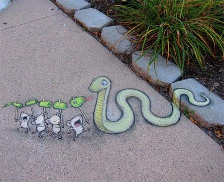 David Zinn Street Art