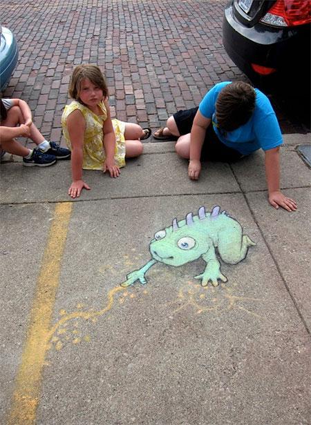 Cute Chalk Art