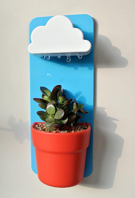Rainy Pot Flower Pot