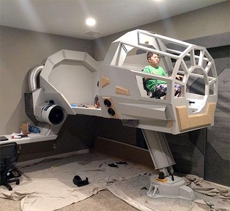 Star Wars Millennium Falcon Bedroom