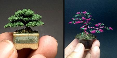 Wire Bonsai Trees