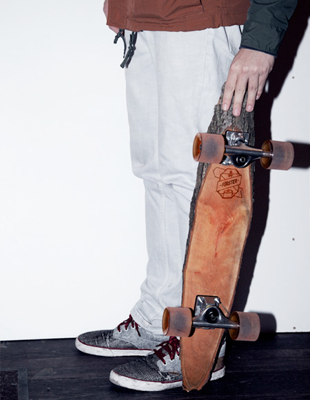 Skateboard Made of Wood