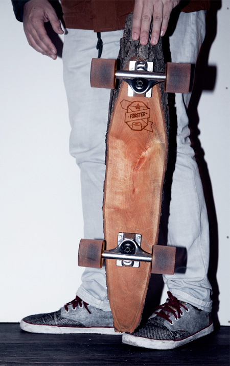 Marco and Sven Wooden Skateboard
