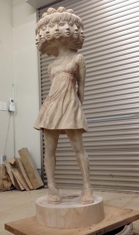 Wooden Carving by Yoshitoshi Kanemaki