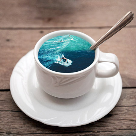Coffee Cup Surfing