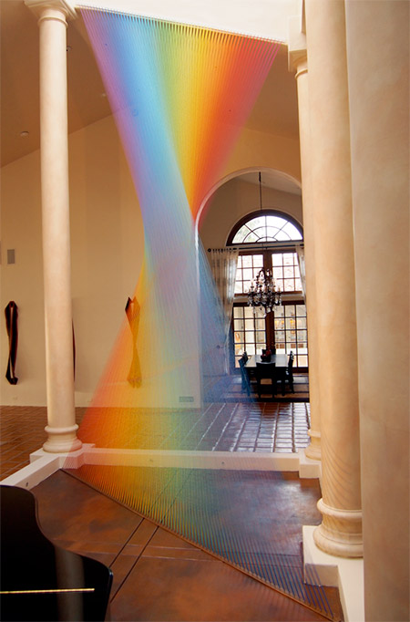 Thread Rainbows by Gabriel Dawe