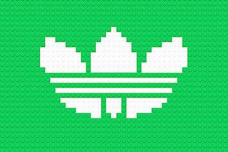 Logos Made Of Lego