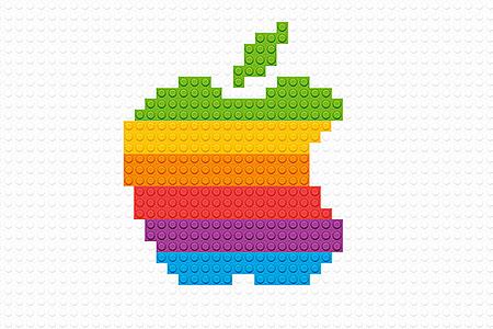 LEGO Apple Logo