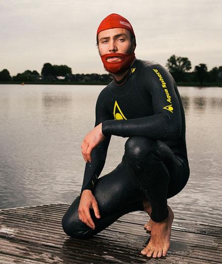 Beard Swim Cap