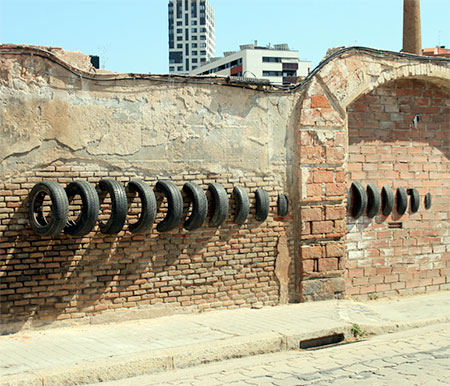 Used Tire Street Art