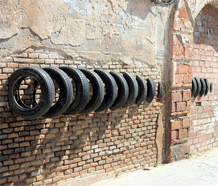 Recycled Tyre Art