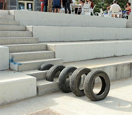 Used Tyre Art