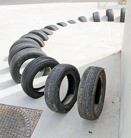 Recycled Tires Street Art