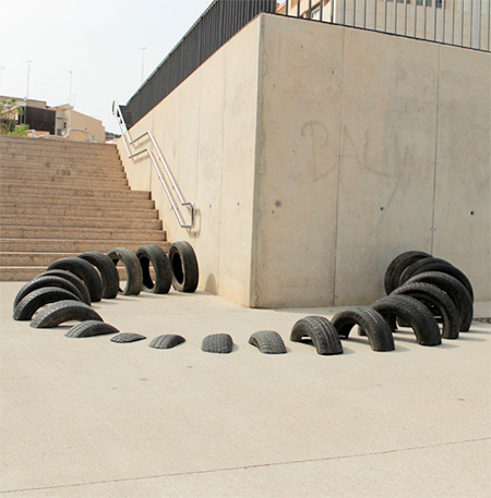 Used Tires Street Art