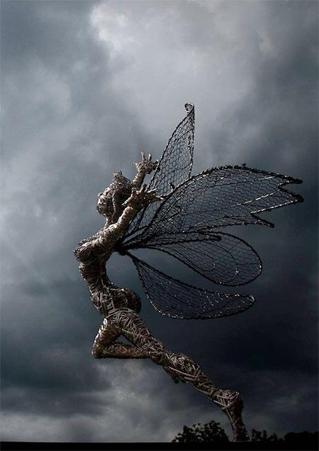 Wire Fairies Sculptures