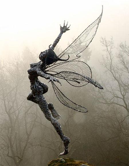 Wire Fairy Sculptures