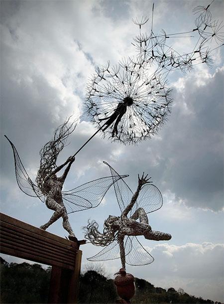 Robin Wight Wire Sculptures