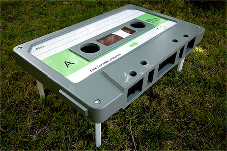 Audio Cassette Coffee Table