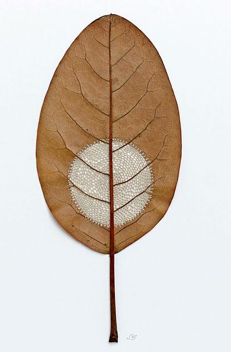 Crocheted Leaf Art