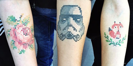 Cross-Stitch Tattoos