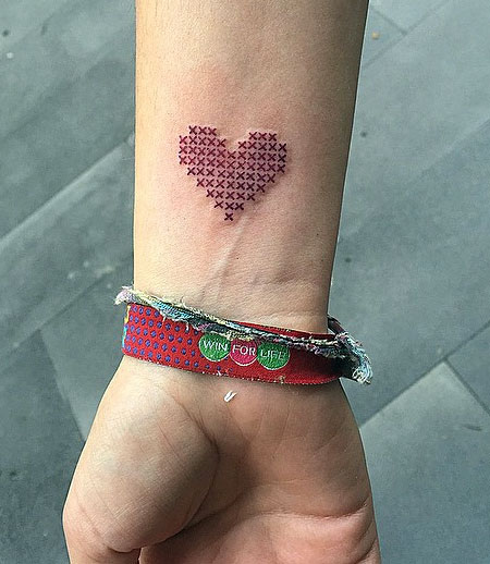 Cross-Stitch Tattoos by Eva Krbdk