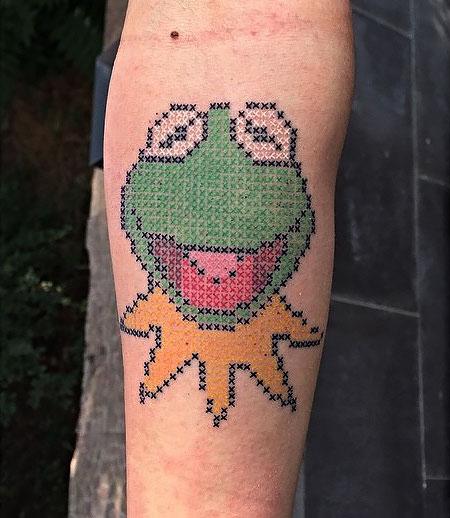 Cross-Stitch Tattoo by Eva Krbdk