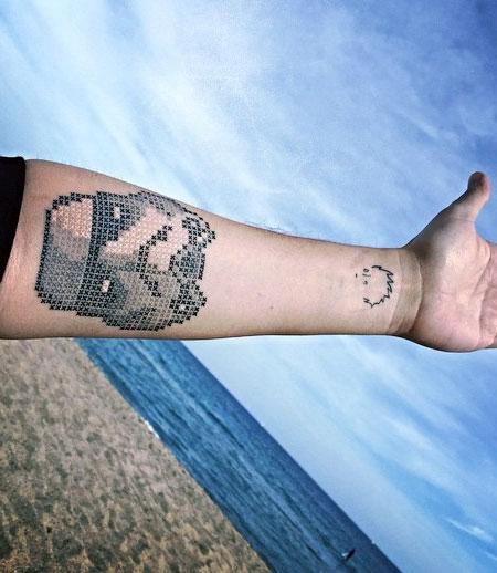 Eva Krbdk Cross-Stitch Tattoos