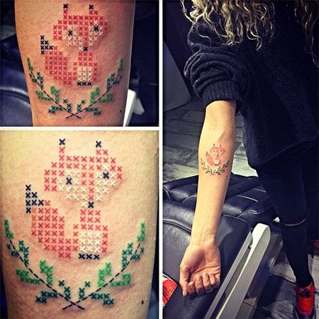 Crossstitched Tattoos