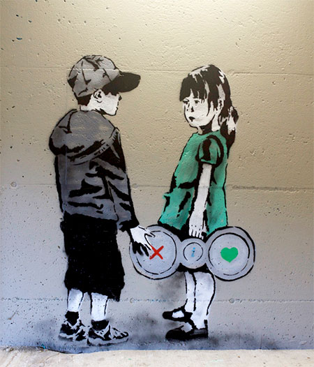 Internet Inspired Street Art