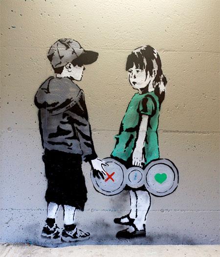 Internet Inspired Street Art
