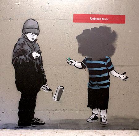 Social Media Inspired Street Art