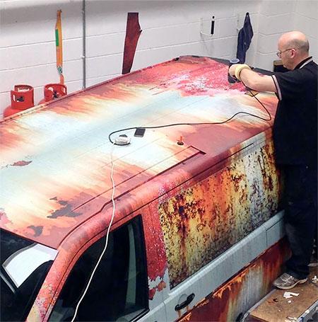 Rust Volkswagen Van