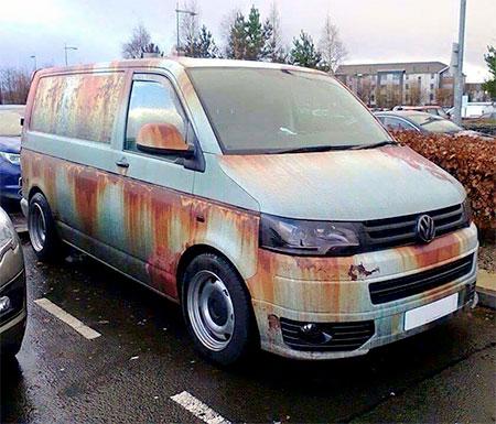 Rust VW Van