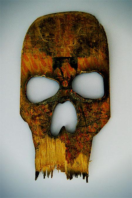Broken Skateboard Decks Skulls