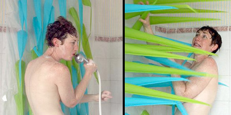 Spiky Shower Curtain
