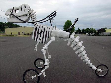 Dinosaur Skeleton Bicycle