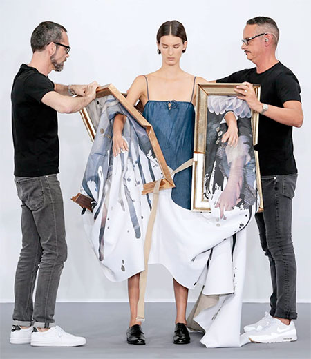 Dresses Made of Paintings
