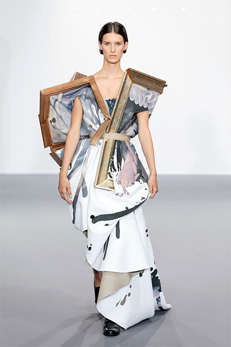 Dress Made of Paintings