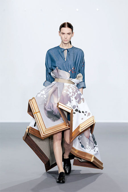 Viktor and Rolf Dress Made of Paintings