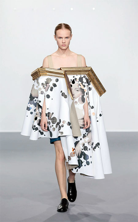 Viktor and Rolf Painting Dress