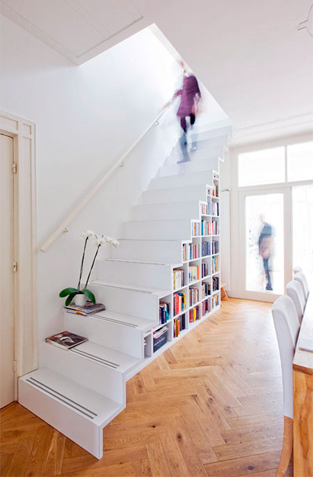 Staircase Shelf bookshelf staircase