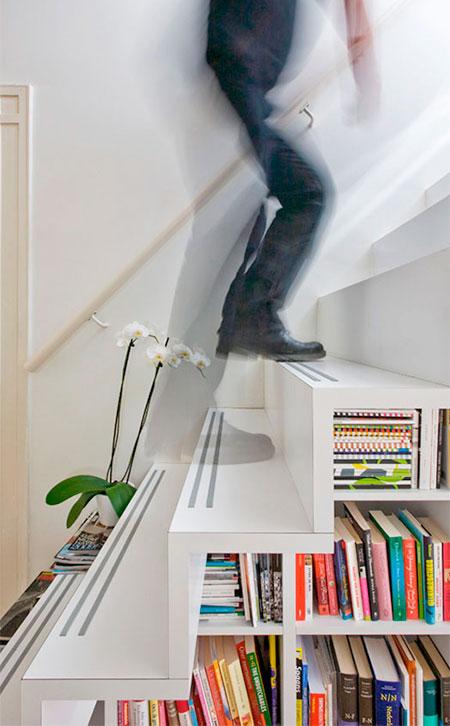 Marc Koehler Bookshelf Staircase
