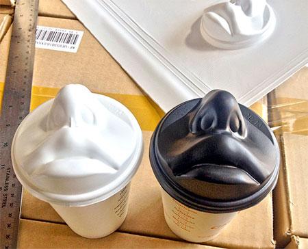 Human Face Coffee Lid