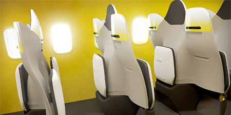 Foldable Airplane Seats