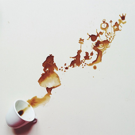 Spilled Coffee Art by Giulia Bernardelli