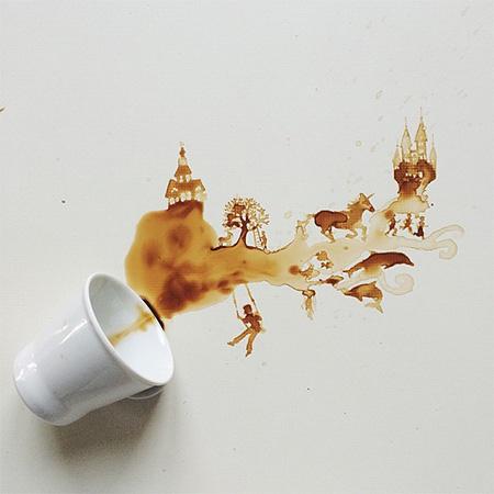 Spilled Coffee Art by Bernulia
